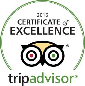 trip advisor excellence award 2016